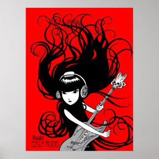 Emily the Strange: Emily Rocks Poster
