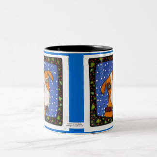 Emily The Watch Dog in Blue Two-Tone Coffee Mug