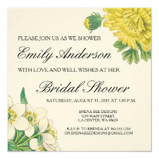 Emily - Vintage Botanical Flowers Card