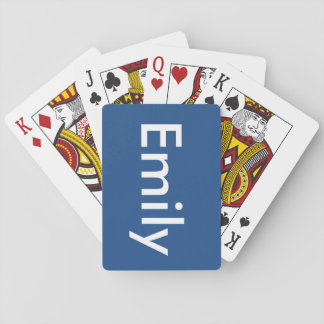Emily's cards poker cards