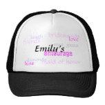 Emily's, entourage, bridesmaids, love, diamonds... trucker hat