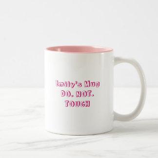 Emily's MugDO. NOT. TOUCH Two-Tone Coffee Mug
