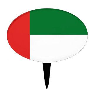 Emiradosarabes flag cake topper