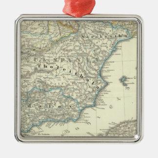 Emirate of Cordoba until the destruction Square Metal Christmas Ornament