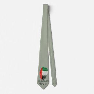 Emirate touch fingerprint flag neck tie