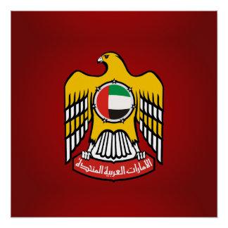 Emirati coat of arms perfect poster