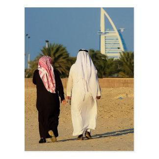 Emirati de la playa del jeque del al-Árabe de Duba Tarjetas Postales