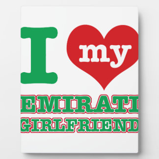 Emirati girlfriend photo plaque