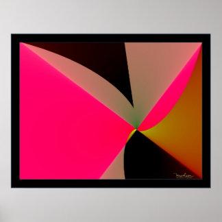 Emisión del rosa brillante póster