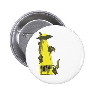 emisión encima de amarillo de la vaca pin