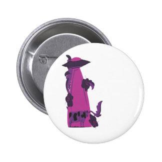 emisión encima de púrpura de la vaca pins