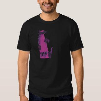 emisión encima de púrpura de la vaca remera