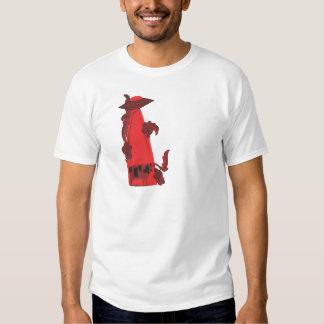 emisión encima de rojo de la vaca camisas