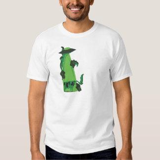 emisión encima de verde de la vaca camisas