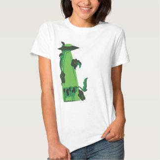 emisión encima de verde de la vaca poleras