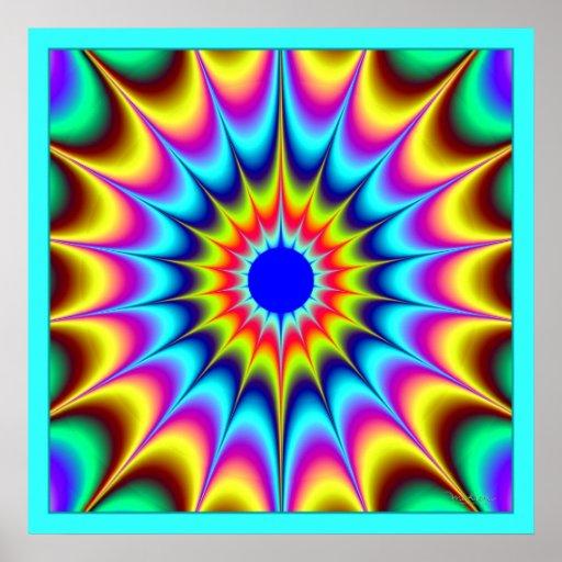 Emisión perpetua de la energía del color póster