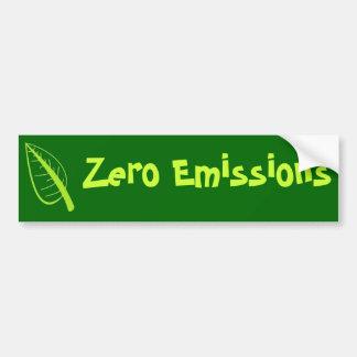 Emisiones cero pegatina para auto