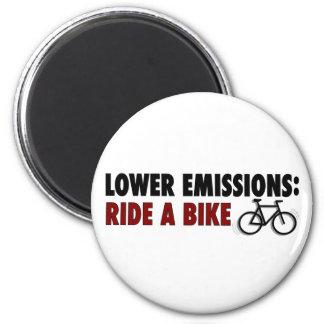 Emisiones más bajas montan una bici imán redondo 5 cm