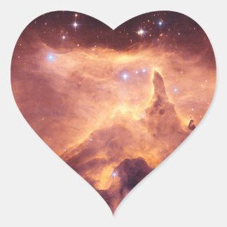 Emission Nebula NGC6357 Heart Sticker