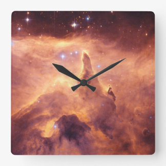 Emission Nebula NGC6357 Square Wall Clock