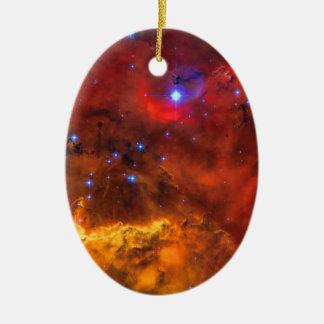 Emission Nebula NGC 2467 in Constellation Puppis Ceramic Ornament