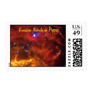 Emission Nebula NGC 2467 in Constellation Puppis Stamps