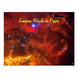 Emission Nebula NGC 2467 in Constellation Puppis Postcard