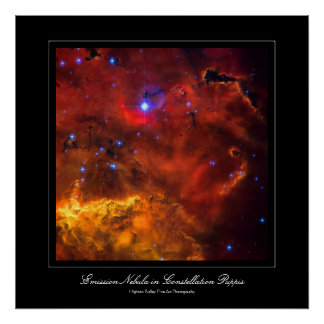 Emission Nebula NGC 2467 in Constellation Puppis Poster