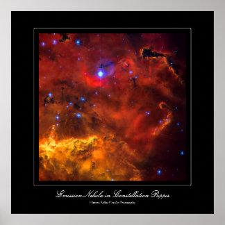 Emission Nebula NGC 2467 in Constellation Puppis Poster