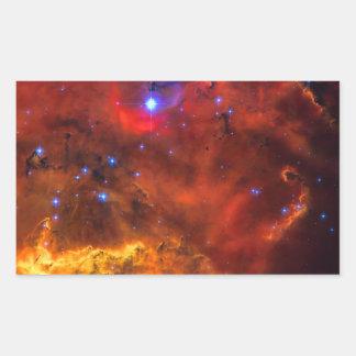 Emission Nebula NGC 2467 in Constellation Puppis Rectangular Sticker