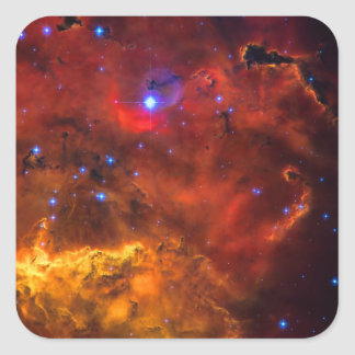 Emission Nebula NGC 2467 in Constellation Puppis Square Sticker