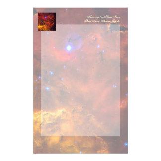 Emission Nebula NGC 2467 in Constellation Puppis Stationery