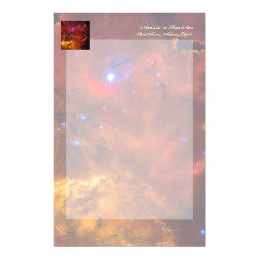 Emission Nebula NGC 2467 in Constellation Puppis Customized Stationery