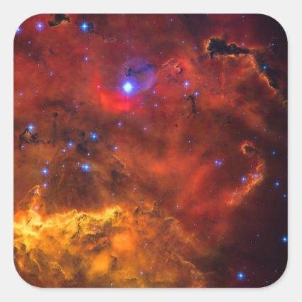 Emission Nebula NGC 2467 in Constellation Puppis Square Stickers