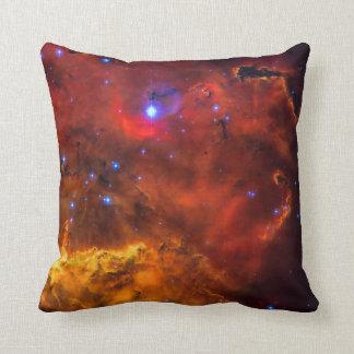 Emission Nebula NGC 2467 in Constellation Puppis Throw Pillow