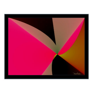Emission of Bright Pink Poster