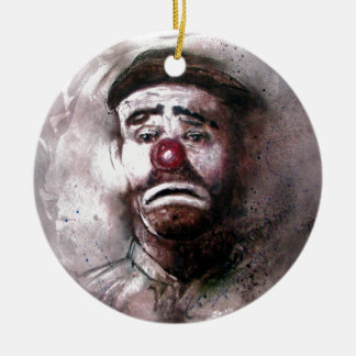 Emit Kelly Clown Art.jpg Ceramic Ornament