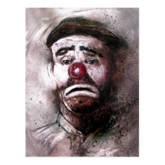Emit Kelly Clown Art.jpg Postcard