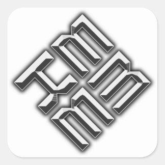 EMKE Logo Sticker (White)