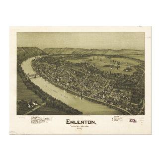 Emlenton el condado de Venango Pennsylvania (1897) Impresión En Lienzo