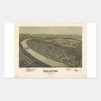 Emlenton el condado de Venango Pennsylvania (1897) Pegatina Rectangular