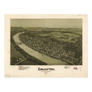 Emlenton el condado de Venango Pennsylvania (1897) Postal