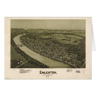 Emlenton el condado de Venango Pennsylvania (1897) Tarjeta De Felicitación