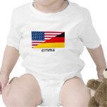 Emma, bandera alemán-americana camiseta