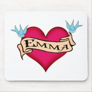 Emma - camisetas y regalos de encargo del tatuaje tapetes de raton