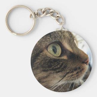 Emma Close-Up Cat Photo Keychain