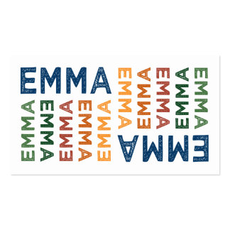 Emma Cute Colorful Business Card