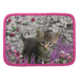 Emma en flores I - pequeño gatito gris Organizadores