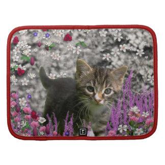 Emma en flores I - pequeño gato gris del gatito Organizador