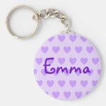 Emma en púrpura llavero